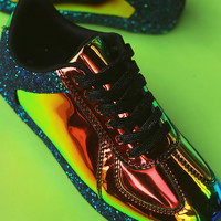 Holographic Low Top Lace Up Sneaker | UrbanOG