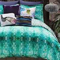 Poetic Wanderlust 'Ardienne' Duvet Cover, Size King - Blue/green