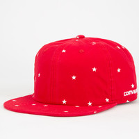 Converse Deconstructed Mens Strapback Hat Red One Size For Men 25436830001