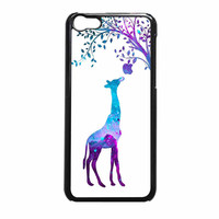 Giraffe Eat Apple Nebula Galaxy iPhone 5c Case