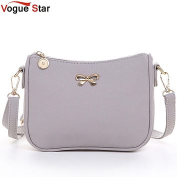 Vogue Star Vintage Cute Bow Small Womens Clutch Mobile Purse Shoulder Messenger Crossbody Handbag LS463