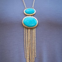 Pink Coconut Boutique | This Is Me Necklace and Earring Set - Aqua