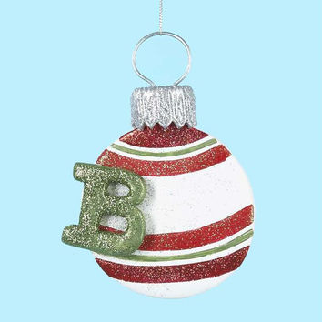 3 Christmas Ornaments - Monogram B