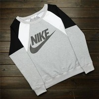 """ Nike "" Like Letter Logo Print Cotton Sports Long Sleeve Women Casual Sweatshirt Shirt Top Blouse T-Shirt"