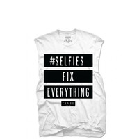 Civil - WMNS Selfies Fix Everything Muscle Tee - White