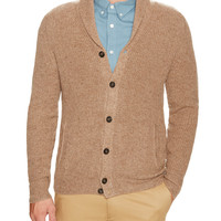 Dartmoor Men's Shaker Rib Cashmere Sweater - Brown -