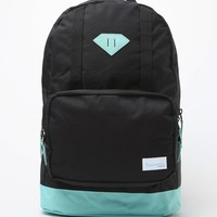Diamond Supply Co DL School Backpack - Mens Backpacks - Black/Mint - One