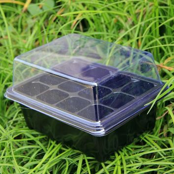 5 Set 9 Cells/12 Cells Seed Nursery Pot Planting Tray Kit Plant Germination Box With Lid Garden Grow Box