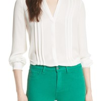 L'AGENCE Amalea Pintuck Silk Blouse | Nordstrom