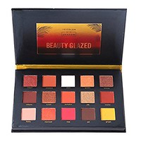 Beauty Glazed Eyeshadow Palette 15 Colors Eye Shadow Powder Make Up Waterproof Eye Shadow Palette Cosmetics Sunset Bronze Gliter