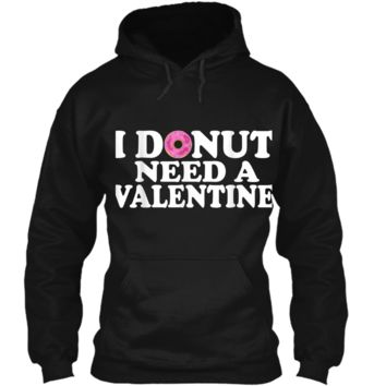 Funny Valentine's Day Cute Donut Lovers  Pullover Hoodie 8 oz