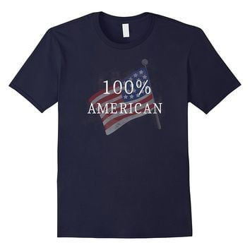 Fourth of July T-shirt: 100% American
