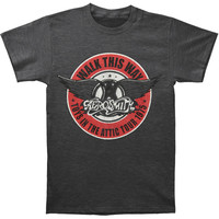 Aerosmith Men's  Walk This Way T-shirt Heather Dark