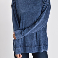 Luna Navy Long Sleeve