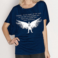SALE - Castiel Flowy Shirt - Fits Many Sizes S-XL - Supernatural Sam Dean- Women Hipster Girls Teen Shirt Tee Shirt