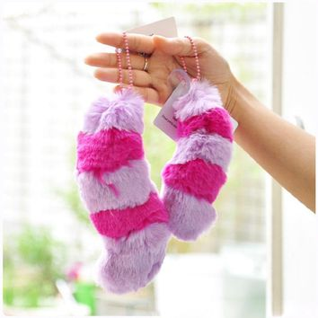 Alice In Wonderland Cheshire Cat Tail Plush Pendant Big Size Soft Stuffed Plush Collection Doll Birthday Gift For Kids