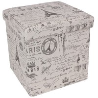 Songmics Paris Effiel Tower Storage Cube Ottoman - Walmart.com