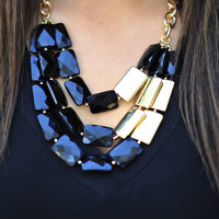 All About The Stones Necklace: Black | Hope's