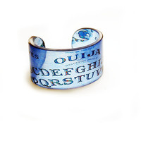 Cuff Ouija Resin Graphic Cuff Resin Bangle Resin by BuyMyCrap