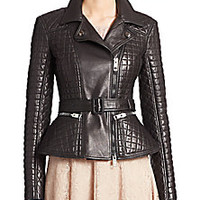 Burberry London - Ledstone Quilted Leather Jacket - Saks Fifth Avenue Mobile