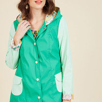 Forecast Fascination Raincoat | Mod Retro Vintage Coats | ModCloth.com