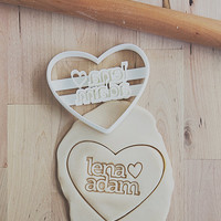 Customizable Couple/Wedding Heart Cookie Cutter (3D printed)