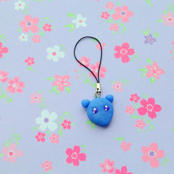 Anime Fruits basket polymer clay charm Yuki Sohma rat form kawaii manga keychain