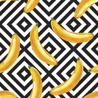 Banana Over Diamonds Removable Wallpaper