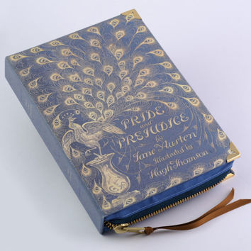 Jane Austen Pride and Prejudice Blue Peacock