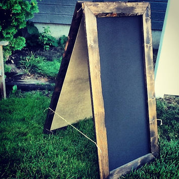 "SHIPS IN 3-5 DAYS! Rustic A-Frame Chalkboard 24""x48"", Sandwich Chalkboard, Double Sided, Menu Board, Wedding Chalkboard, Reclaimed Wood"