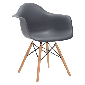 Vortex Arm Chair in Grey