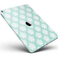 """The Mint Green Decorative Pattern Full Body Skin for the iPad Pro (12.9"""" or 9.7"""" available)"""