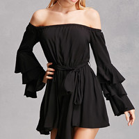 Off-the-Shoulder Ruffle Romper
