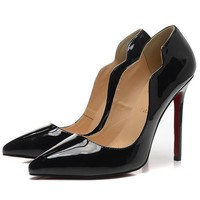 Christian Louboutin Fashion Edgy Pointed Heels Shoes-5