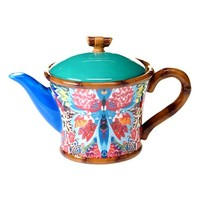 Tracy Porter For Poetic Wanderlust 'Magpie' Teapot - Blue/green