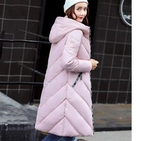 High quality Women winter warm down jacket Military Large size parka Hooded Winter coat Fashion 2017 warm long jacket for lady