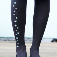 Star Tights - Reflective Printed Stars