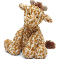 Jellycat Medium Fuddlewuddle Giraffe Stuffed Animal, Tan/Cream