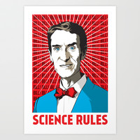 The Science Guy Art Print by Katie Mazikins