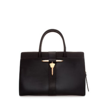 LEATHER BAG WITH METAL TAB - Woman - New this week | ZARA United States
