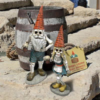 Park Avenue Collection S/2 Oktoberfest Skeleton Gnomes