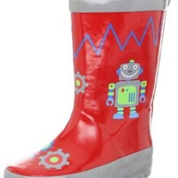 Stephen Joseph Little Boys' Boy's Rain Boot, Robot, 6