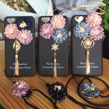 Fashion daisy tassels plastic Case Cover for Apple iPhone 7 7Plus 6 Plus 6 -005-12-Craftonline