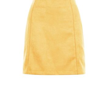 Yellow Suedette A-Line Mini Skirt | New Look