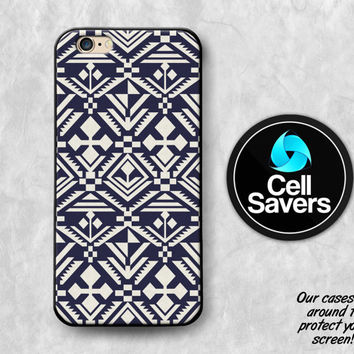 Tribal Pattern iPhone 6s Case iPhone 6 Case iPhone 6 Plus Case iPhone 6s Plus iPhone 5c Case iPhone 5 Navy Blue Aztec Pattern Boho Style