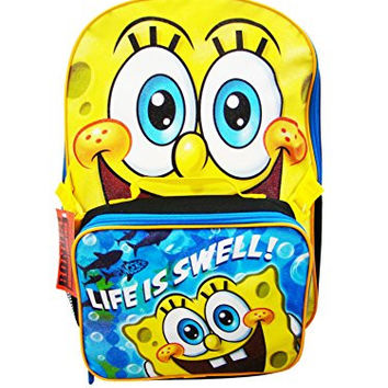 Spongebob Backpack and Life is Swell Lunch Box