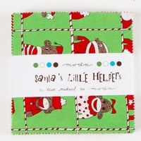 Moda Santa's Little Helpers Sock Monkey Charm Pack Squares | Lisas Stitching Post