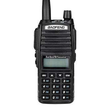 Portable UV-82 Walkie Talkies Two Way PTT CB Radio Dual Band VHF 136-174MHz UHF 400-470MHz 128CH Amateur Radio Transceivers with Air