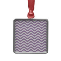 African Violet And White Waves Graphic Art Pattern Christmas Ornament from Zazzle.com