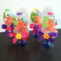 Flower Power...(set of 4) mini cupcake stands